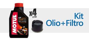 kit filtro + olio motore moto