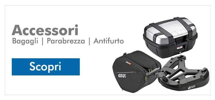 Personalizza la tua moto, o preparala per un grande viaggio con gli accessori adatti!